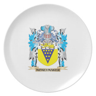 Moneymaker Coat of Arms - Family Crest Party Plates