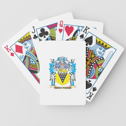 Moneymaker Coat of Arms - Family Crest Card Deck