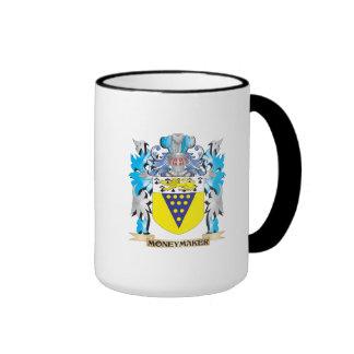 Moneymaker Coat of Arms - Family Crest Ringer Mug