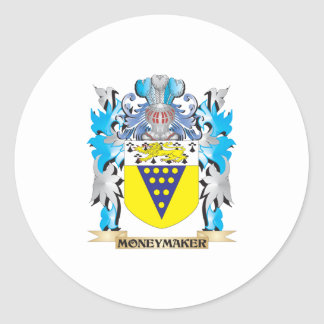 Moneymaker Coat of Arms - Family Crest Round Sticker
