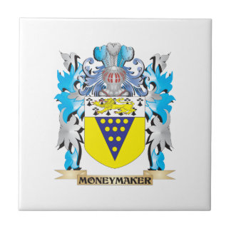 Moneymaker Coat of Arms - Family Crest Ceramic Tile