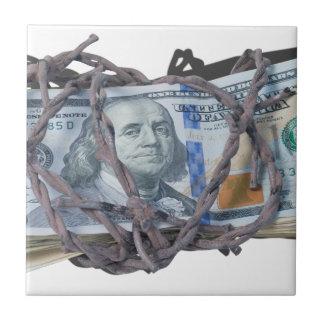 MoneyWrappedBarbedWire052414.png Ceramic Tile