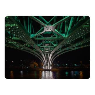 Mong Bridge, Ho Chi Minh City, Vietnam 17 Cm X 22 Cm Invitation Card