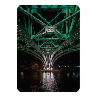 Mong Bridge, Ho Chi Minh City, Vietnam 11 Cm X 16 Cm Invitation Card