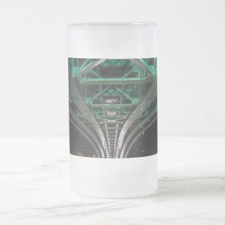 Mong Bridge, Ho Chi Minh City, Vietnam Frosted Glass Mug