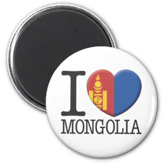 Mongolia 6 Cm Round Magnet