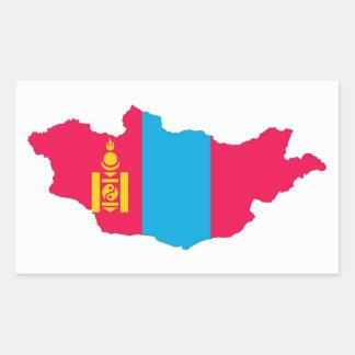 mongolia country flag map shape symbol rectangular sticker