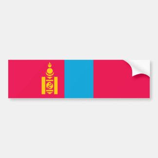 Mongolia country flag nation symbol bumper sticker