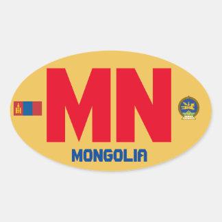 Mongolia* Euro-Style Oval Sticker