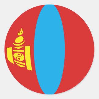 Mongolia Fisheye Flag Sticker