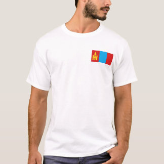Mongolia Flag and Map T-Shirt