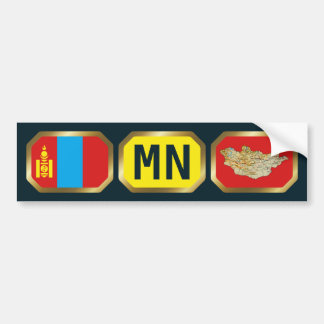 Mongolia Flag Map Code Bumper Sticker