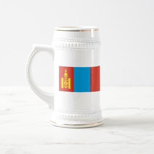 Mongolia Flag ~ Map Mug
