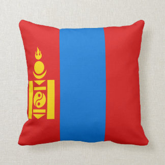 Mongolia Flag x Flag Pillow