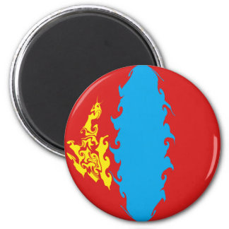 Mongolia Gnarly Flag Fridge Magnets