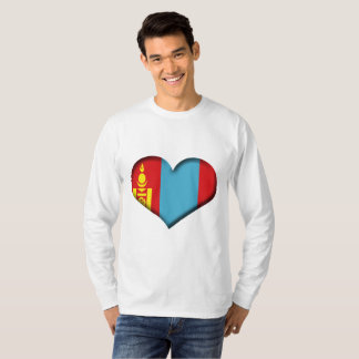 Mongolia Heart Flag T-Shirt