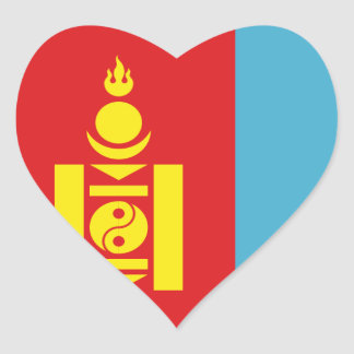 mongolia heart sticker