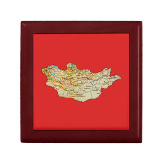 Mongolia Map Gift Box