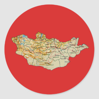 Mongolia Map Sticker