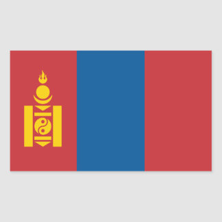 Mongolia/Mongolian Flag Rectangular Sticker