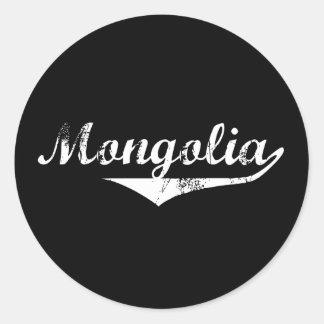 Mongolia Revolution Style Classic Round Sticker