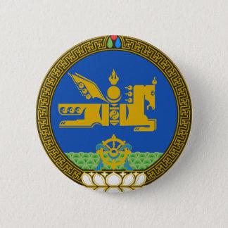 Mongolia State Emblem 6 Cm Round Badge