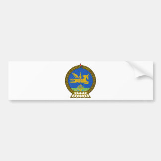 Mongolia State Emblem Bumper Sticker
