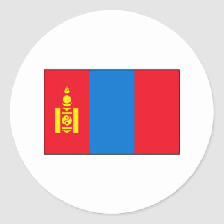 Mongolian Flag T-shirts and Gifts Classic Round Sticker