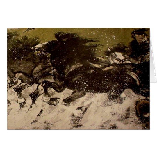 Mongolian Horseman Card