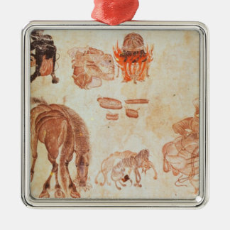 Mongolian nomadic camp, 15th century christmas ornament