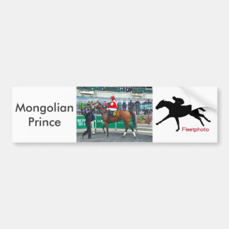 Mongolian Prince Bumper Sticker