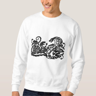Mongoose and Cobra Embroidered Sweatshirt