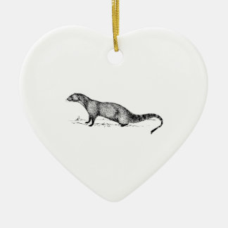 Mongoose Ceramic Heart Decoration