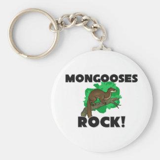 Mongooses Rock Keychain