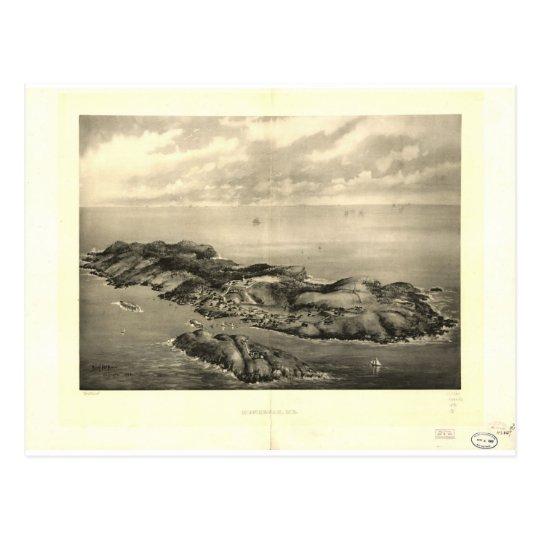 Monhegan Maine in 1896 Postcard