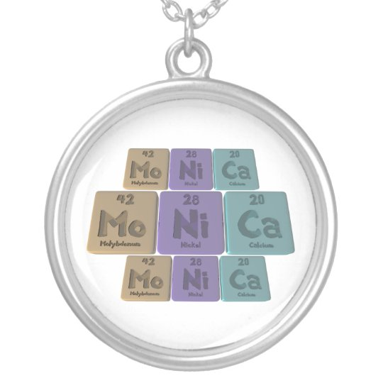Monica as Molybdenum Nickel Calcium Silver Plated Necklace