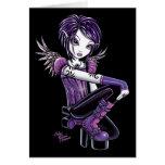 """Monica"" Purple Tattoo Angel Card"