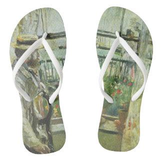 """Monisot's """"Eugene Manet"""" art sandals"""