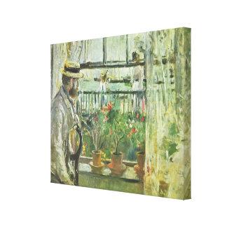 "Monisot's ""Eugene Manet"" canvas print"