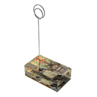"""Monisot's """"The Dining Room"""" table card holder"""