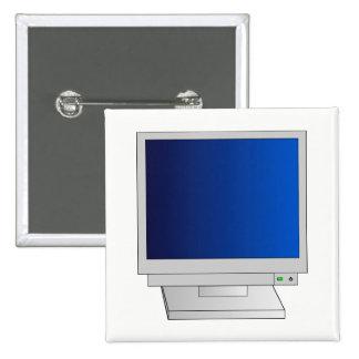 Monitor 15 Cm Square Badge