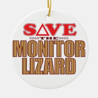 Monitor Lizard Save Christmas Ornament