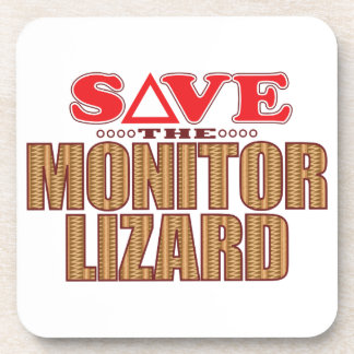 Monitor Lizard Save Coaster