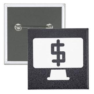 Monitors Minimal 15 Cm Square Badge