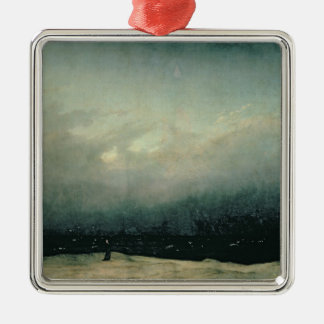 Monk by sea, 1809 christmas ornament