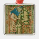 Monk Eadwine at work on the manuscript, Christmas Ornament