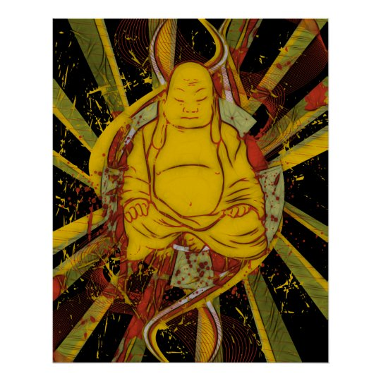 Monk in Meditation Poster