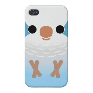 Monk Parakeet (Blue) Cover For iPhone 4