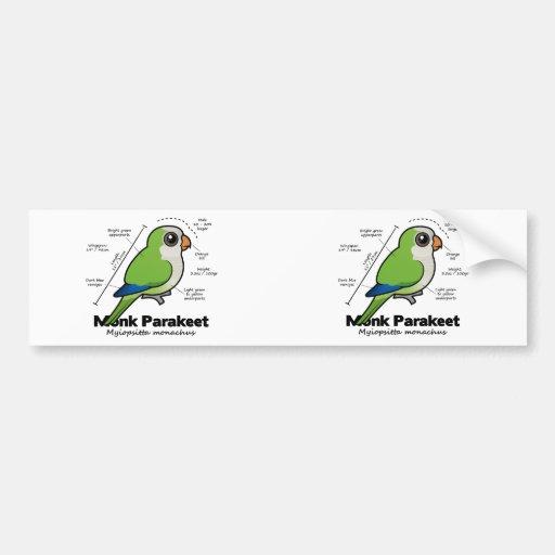 Monk Parakeet Statistics Bumper Sticker