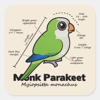 Monk Parakeet Statistics Square Sticker